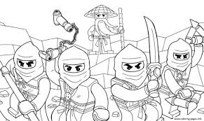 Ninja Go Coloring Pages Kids
