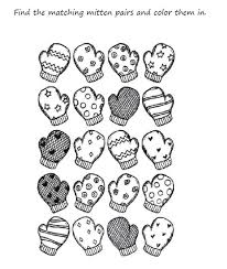 Mitten Coloring Page Printable Archives Inside