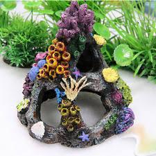 Coral Colored Decorative Items by Top Fin Resin Multi Color Coral Fish Tank Cave Aquarium Decoration