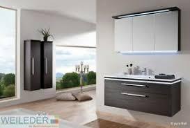 details zu puris cool line badmöbel waschtisch 120 cm led spiegelschrank dekorwahl 3