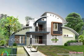 100 Home Designed Modern Curved Roof House In 2622 Sqft Kerala Home Design