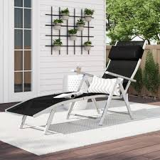 Freeport Park Southwold Patio Reclining Chaise Lounge ... Phi Villa Outdoor Patio Metal Adjustable Relaxing Recliner Lounge Chair With Cushion Best Value Wicker Recliners The Choice Products Foldable Zero Gravity Rocking Wheadrest Pillow Black Wooden Recling Beach Pool Sun Lounger Buy Loungerwooden Chairwooden Product On Details About 2pc Folding Chairs Yard Khaki Goplus Wutility Tray Beige Headrest Freeport Park Southwold Chaise Yardeen 2 Pack Poolside