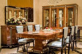 10tlg esszimmer set garnitur vitrine tisch 6x stuhl kommode spiegel barock neu