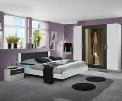 schlafzimmer komplett schrank bett nachtschrank weiß graphit