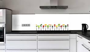 küchenrückwand glasbild obst und gemüse auf der gabel e