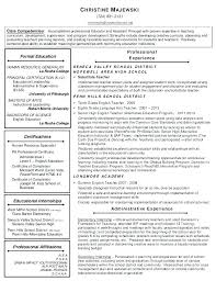 Principal Resume Samples Public School Administrator Assistant High Database