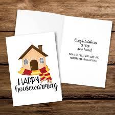 Happy Housewarming Digital 5x7 Printable Folded Card