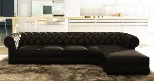 canapé méridien deco in canape d angle noir capitonne chesterfield avec