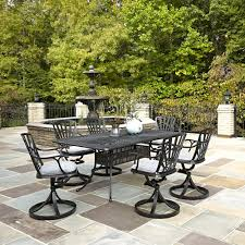 home styles athens 7 piece patio dining set with umbrella 5569
