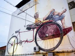 Famous Street Mural Artists by Famous Street Art Mural In George Town Penang Malaysia Stock