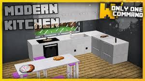 Minecraft Kitchen Ideas Youtube by Minecraft Modern Kitchen Furniture With Only Two Command Blocks
