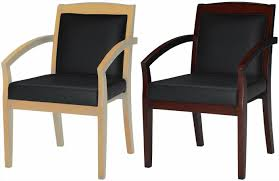 Remarkable Executive fice Guest Chairs Mayline Leather And Wood