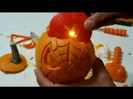 Spiderman Pumpkin Carving by Spider Man Pumpkin Carving Youtube
