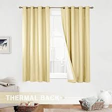 Amazon Yellow Kitchen Curtains by Amazon Com Lined Thermal Moderate Blackout Curtains For Bedroom