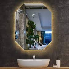 beleuchteter badezimmer spiegel mit led licht zum messen