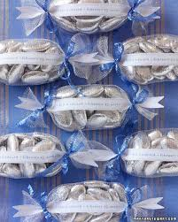 Blue And Silver Wedding Favors