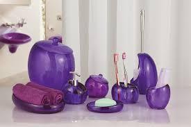 Purple Decorative Towel Sets by Stunning Purple Bathroom Set Contemporary Home Design Ideas