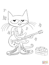 Click The Pete Cat Rocking In My School Shoes Coloring Pages