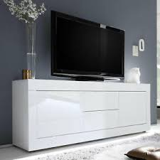 details zu lowboard tv element kommode basic weiß hochglanz lack schrank wohnzimmer 210 cm