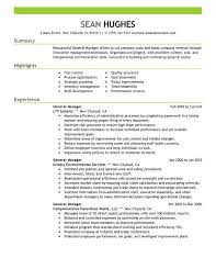 General Manager Resume Sample Perfect Store Samples Resumes Retail Management
