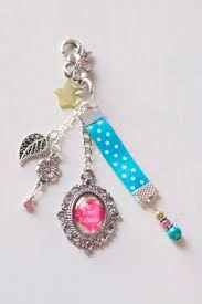 porte clé clef bijou de sac chat liberty cabochon perles