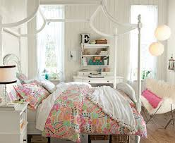 Kids Bedroom Teenage Girl Small Decorating Ideas Featuring White Unique Canopy Bed And Simple