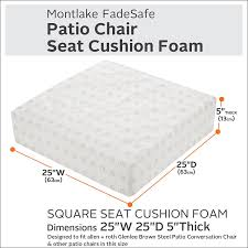 Allen And Roth Deep Seat Patio Cushions by Amazon Com Classic Accessories Montlake Patio Furniture Cushion