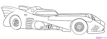 Batmobile Printable Coloring Pages