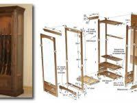 Gun Cabinets Build Your Own Woodworking Plans Wood Cabinet Designs