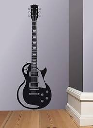 Image Is Loading Les Paul Gibson Guitar Wall Art Sticker Decal