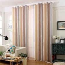 großhandel rustikale baumwolle leinen blackout vorhang wasser wellenmuster steigung romantik vorhänge sheer für wohnzimmer schlafzimmer fenster