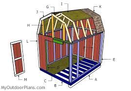 8x12 Gambrel Shed Roof Plans MyOutdoorPlans Free Woodworking