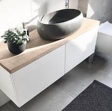 badezimmer waschtisch diy bestå sideboard eichenplatte