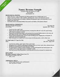 Child Care Responsibilities Resume Photo Nanny Example With Professional Profile And Experience Also Picture