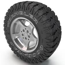 3d Model Goodyear Wrangler Tire | Instrument | Offroad, Trucks, Drawings