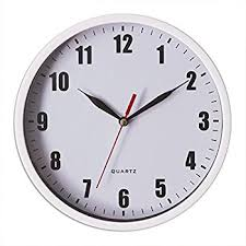 8 Silent Wall Clock Non Ticking Decor Digital Quartz Battery Operated Easy To Read Round ClockWhite