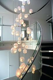 Chandeliers For High Ceilings Chandelier Ceiling Contemporary Dining Room With Table Within
