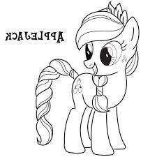 Little Pony Coloring Pages Applejack
