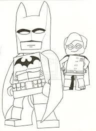 Lego Superhero Coloring Pages Batman Free Print Images