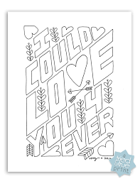 Download Love You Forever Free Coloring Page