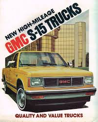 1982 GMC S-15 PickUp Truck Brochure / Catalog W/Color Chart:GYPSY ...