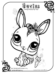 Littlest Pet Shop Coloring Pages Printable Archives Throughout My Little