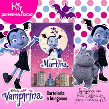 Kit Imprimible Personalizado Vampirina Candy Bar