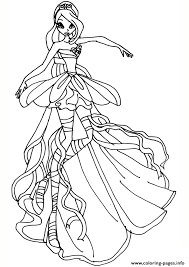 Bloom Harmonix Winx Club Coloring Pages Print Download