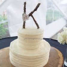 Letter K Rustic Twig Monogram Wedding Cake Topper