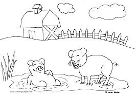 Full Image For Farm Animal Coloring Pages Toddlers Animals Free