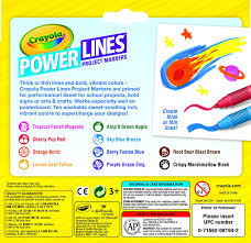 Crayola Bathtub Crayons 18 Vibrant Colors by Amazon Com Crayola Power Lines Washable Scented Markers 10
