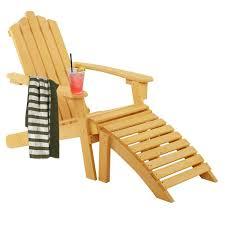Amazon.com : Folding Wood Adirondack Chair With Ottoman For ...