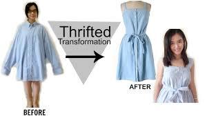 diy men u0027s shirt into a dress thrifted transformation youtube