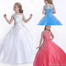 2015 cheap short cap sleeves girls pageant dresses size flower